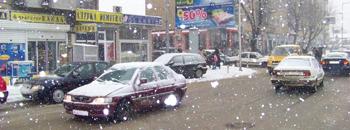 Снежна мeќава во Куманово