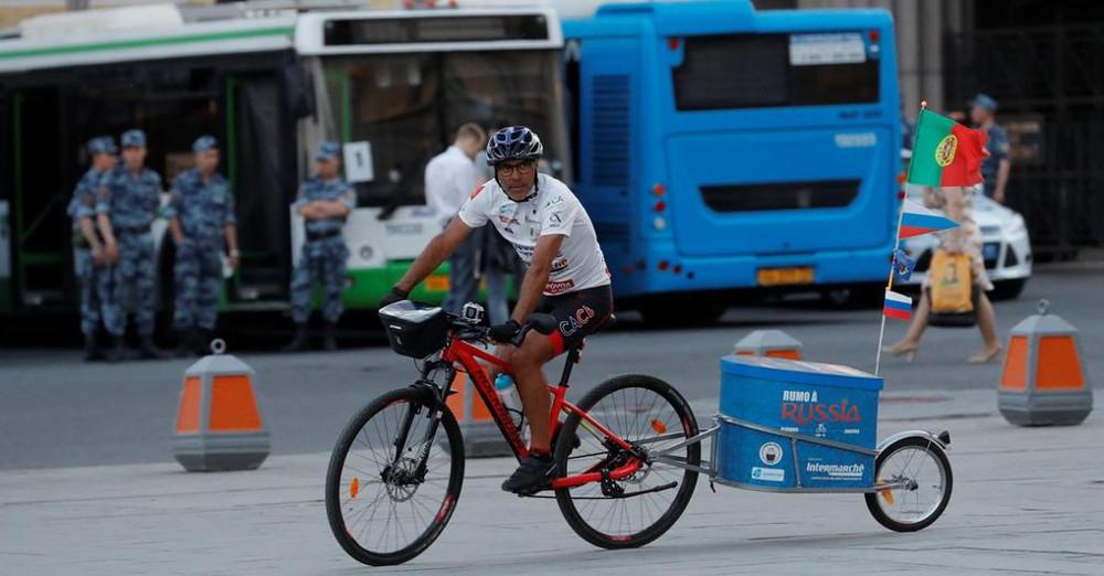 Со велосипед на фудбалскиот Мундијал во Русија