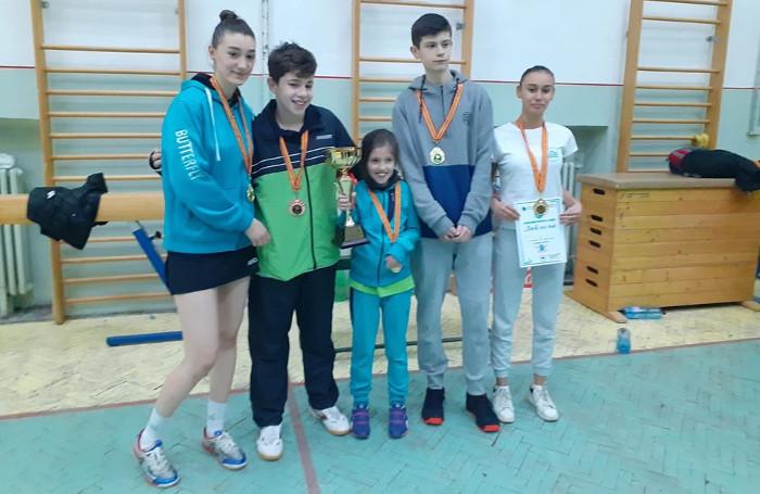 Димитриевска и Додевски се закитија со медали на Државното пингпонгарско првенство во Штип