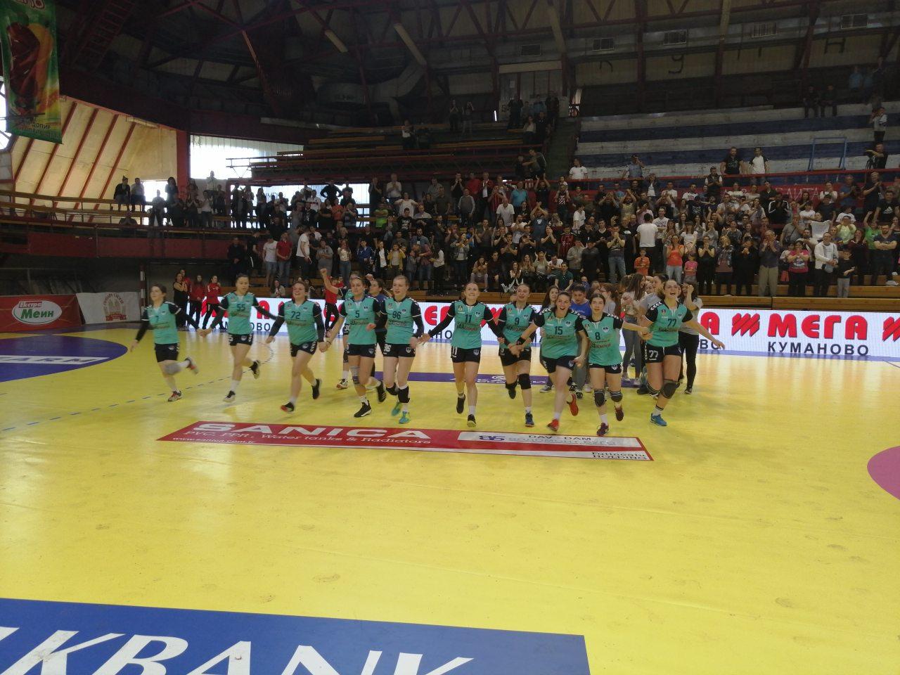 Kумановските ракометарки шампионки во есенскиот дел од Супер лигата