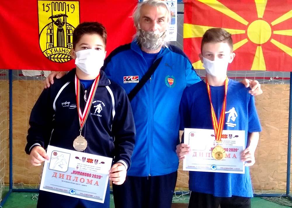 Две медали за младите пингпонгари на Куманово