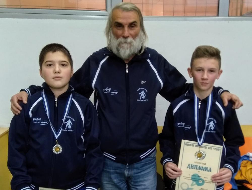 """Две медали за младите пингпонгари на """"Куманово"""""""
