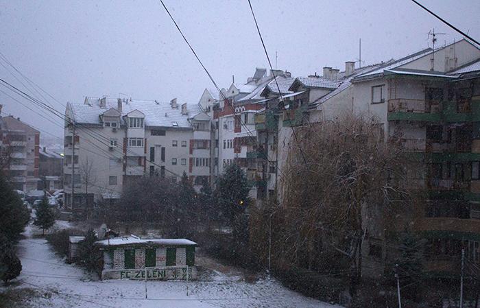 Во Кумановно 3 сантиметри снег, температурата -1 степен