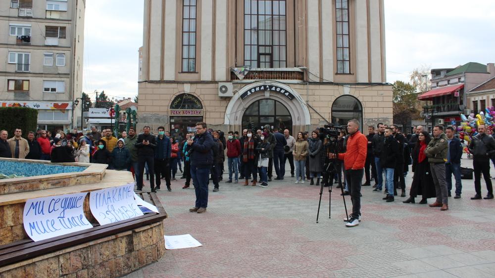 Кумановци протестираа против загадувањето на воздухот