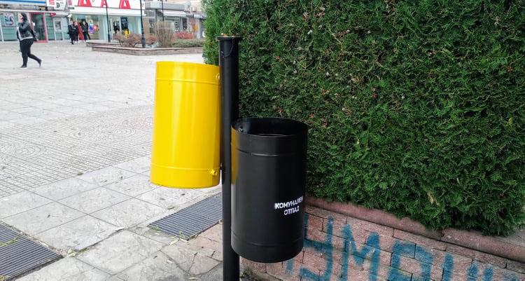Поставени нови кантички за отпад во центарот на градот
