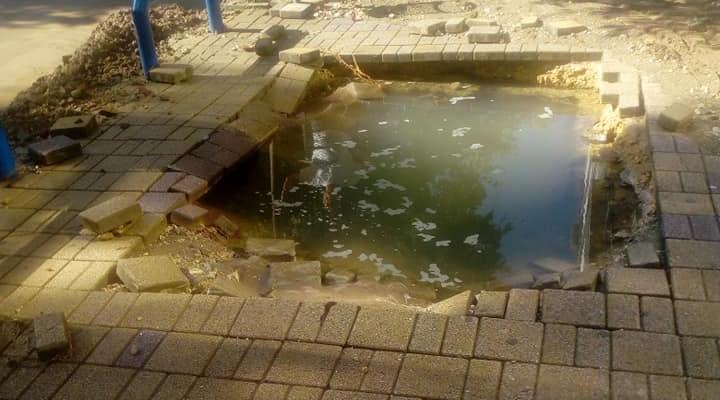 Пукна водоводна цевка во центарот на Куманово
