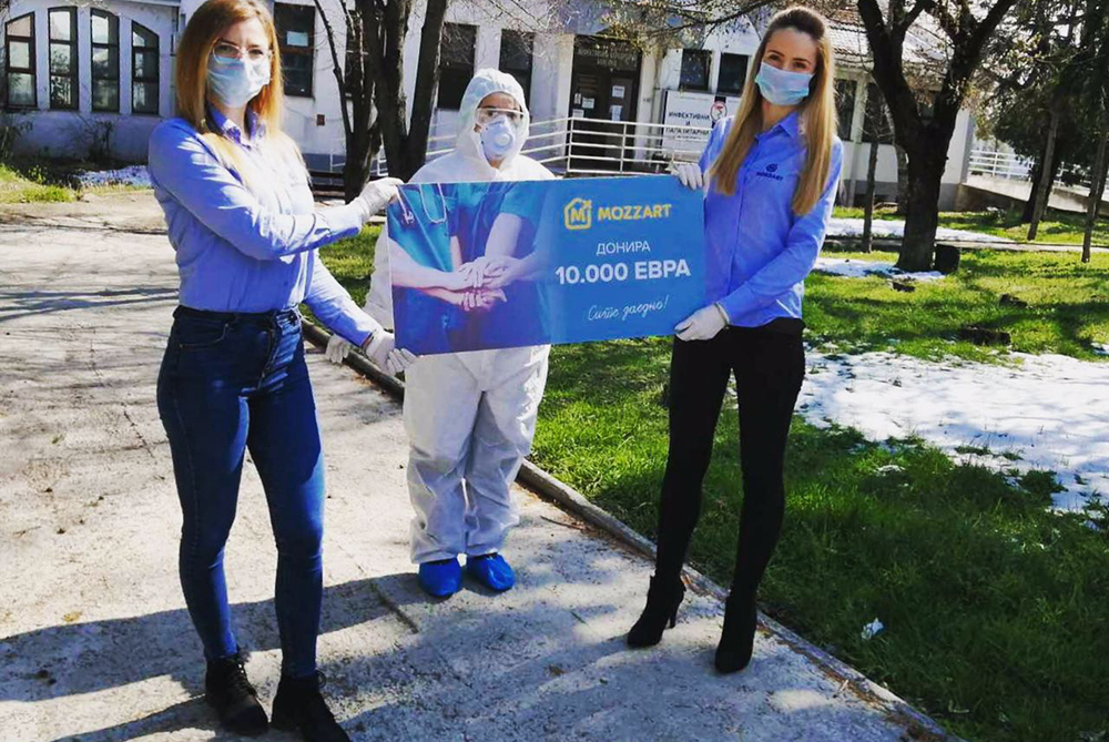 MOZZART донираше 10.000 евра за Општата болница во Куманово
