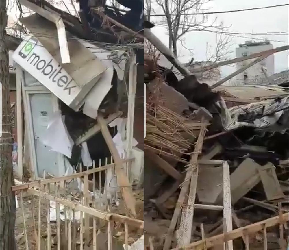 Дождот ја урна трошната куќа на Илинденска