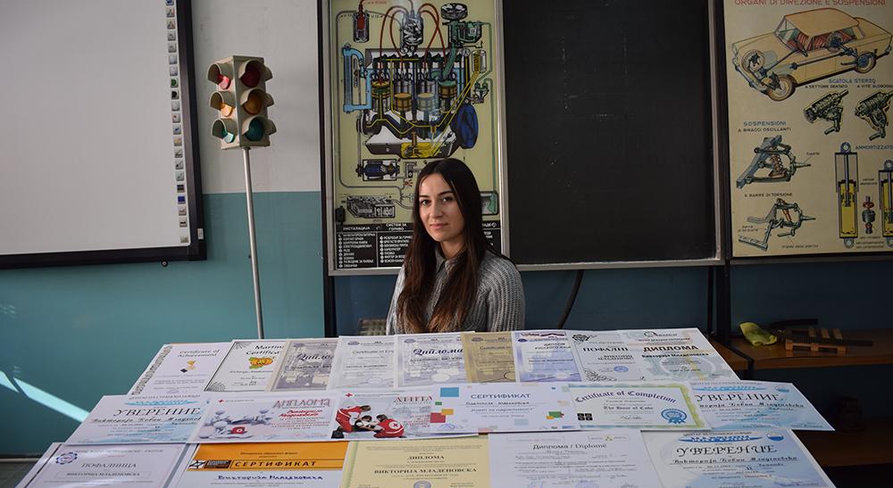 Средношколка освоила 24 награди на натпревари од областа на сообраќајот