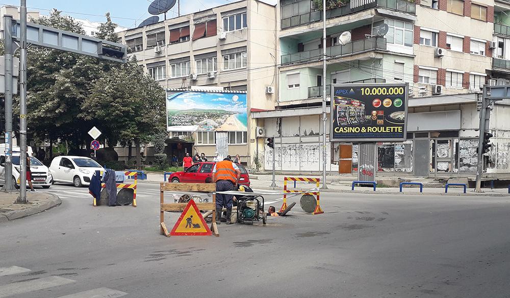 Без вода потрошувачите на повеќе улици во градот