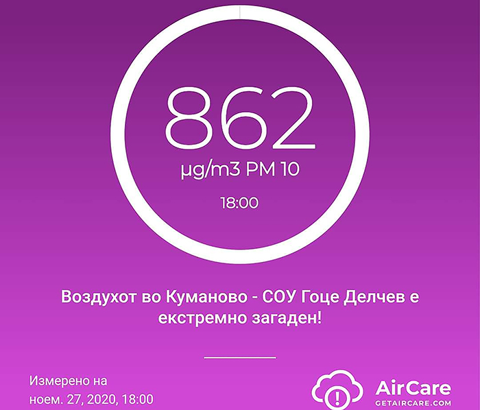 Во Куманово стапуваат на сила мерки за заштита на населението поради загадениот воздух
