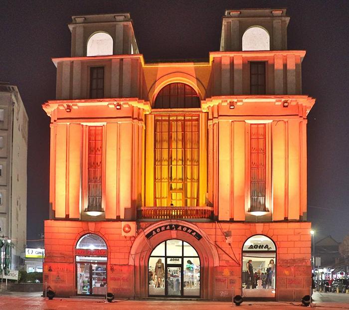 Занатскиот дом во Куманово обоен портокалово - да се спречи насилството врз жените и девојчињата