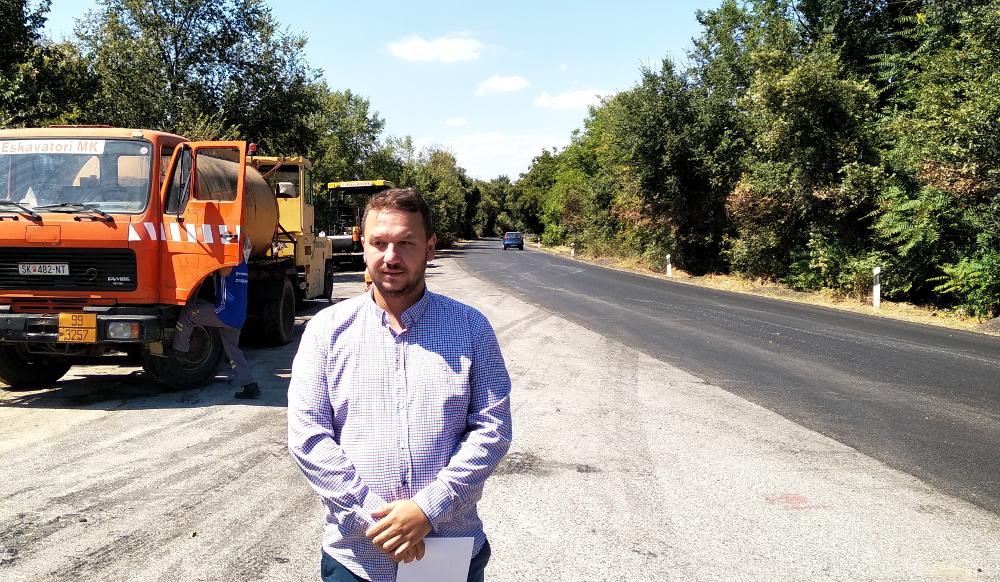 Во кумановскиот регион се градат над 120 километри патишта, објави Костовски