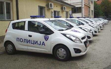 Опожарено возило на кумановската полиција