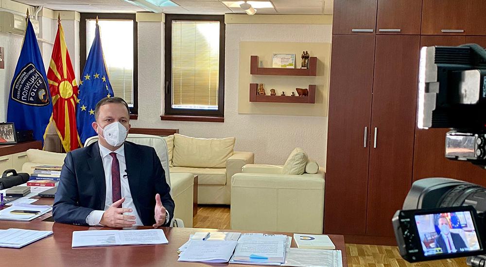 Спасовски: Благодарение на пожртвуваноста на здравствените работници од денеска сум на работа во МВР