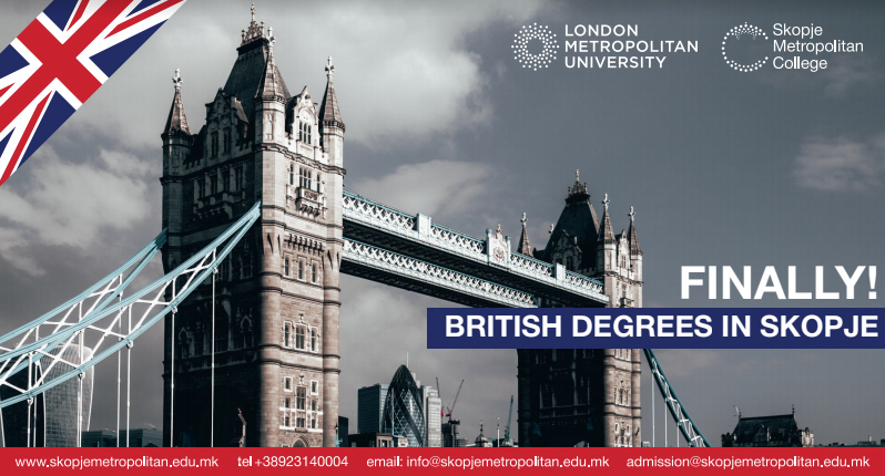 Официјален старт на студиите на Лондон Метрополитен универзитетот во Скопје