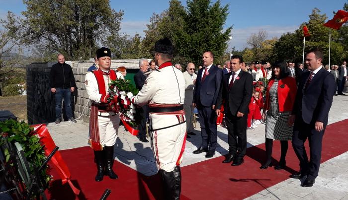 Премиерот Заев на прославата на 11 Октомври во Куманово