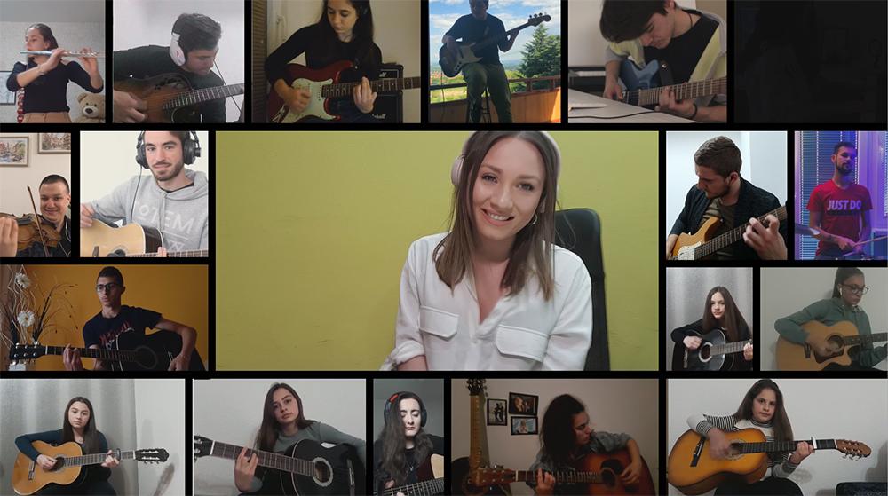 """""""Еве ме пак"""" во нова карантинска верзија ја пеат 25 млади музичари"""